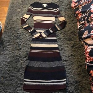 H&M long sweater dress sz small